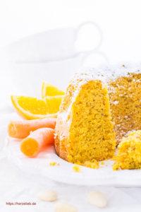 Karottenkuchen Rezept von herzelieb- mit Orangen und Mandeln