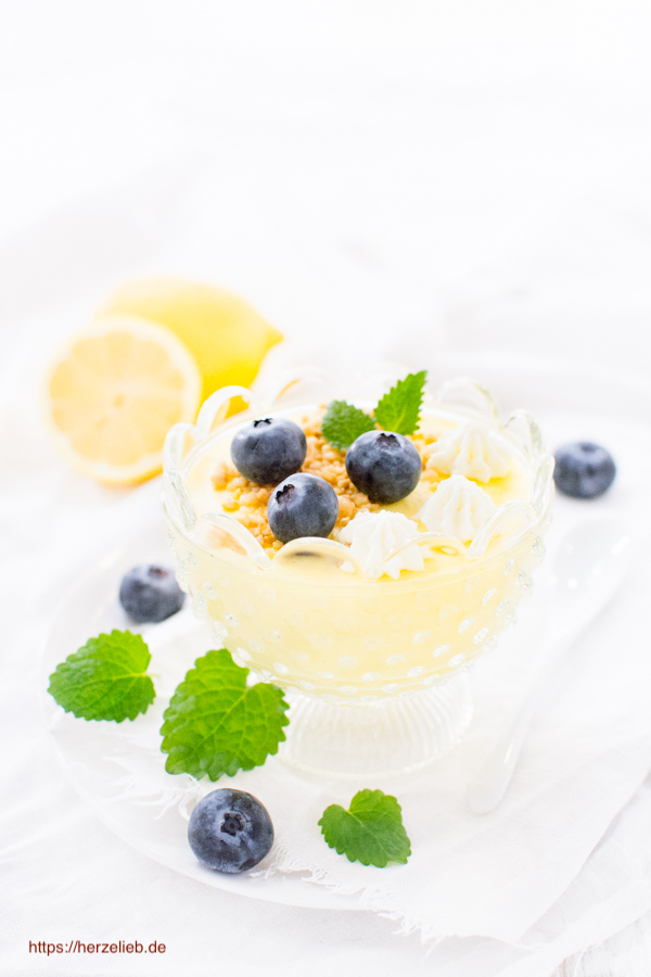 Dänische Zitronencreme - Citronfromage im Glas