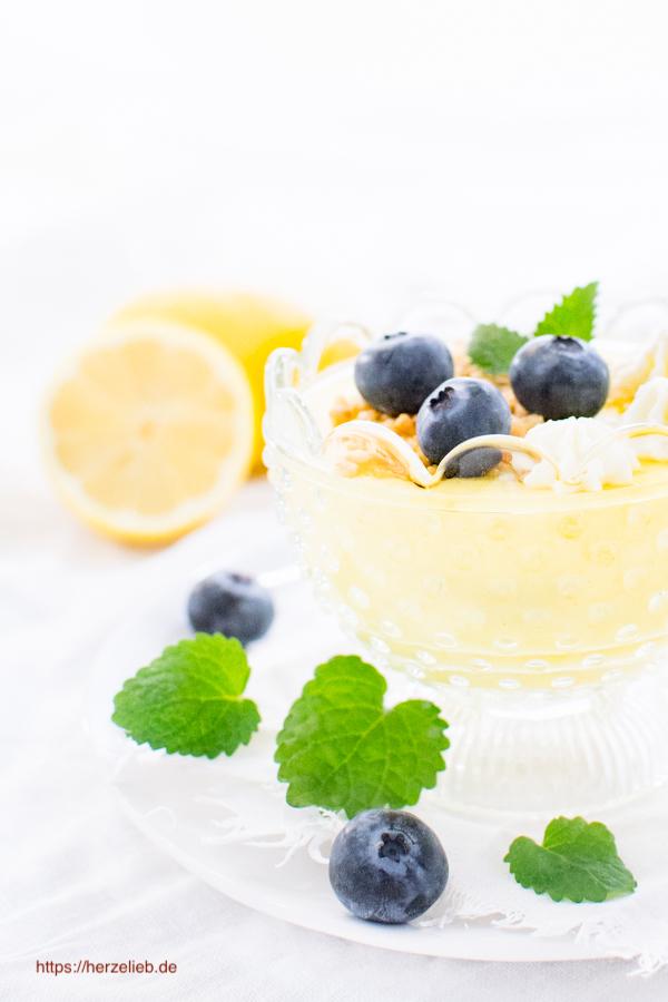 Citronfromage aus Dänemark im Glas