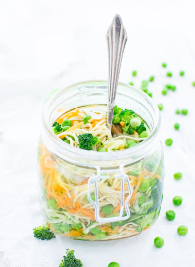 Nudelsuppe to go im Glas