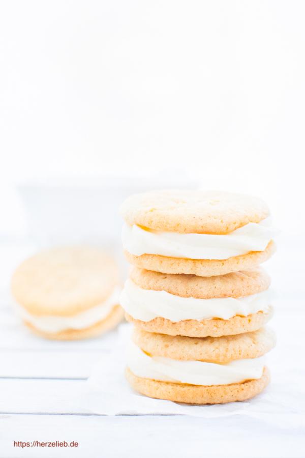 Gefüllte Zitronenkekse - Rezept für ein bisschen Sonnenschein! (Kekse)