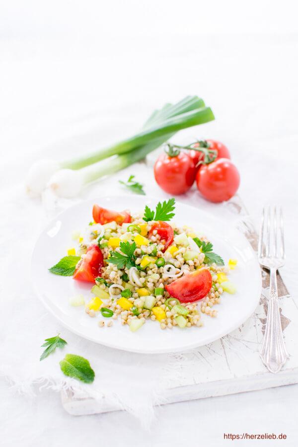 buchweizen salat ein au ergew hnlicher salat perfekt zum grillen. Black Bedroom Furniture Sets. Home Design Ideas