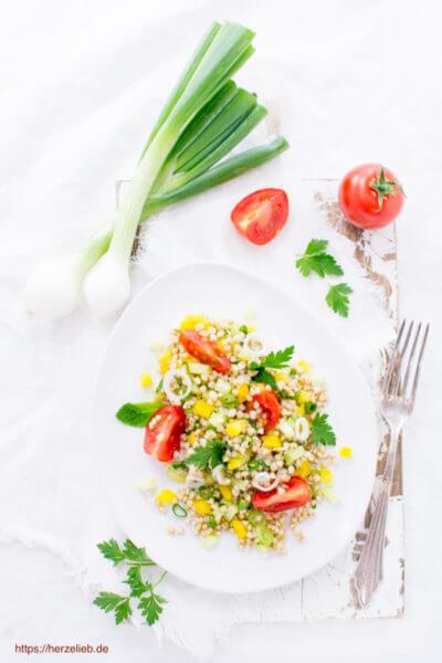 Buchweizen Salat Rezept - lecker mit viel Gemüse