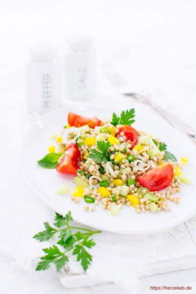 Dieser Buchweizen-Salat ist vegan, vegetarisch und glutenfrei - was will man mehr