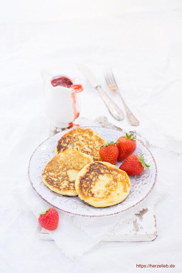 Grießbrei Pfannkuchen. Leckeres Mittagessen