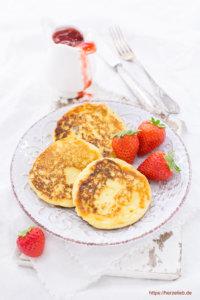 Leckere Grießbrei Pfannkuchen. Kndheitserinnerung pur