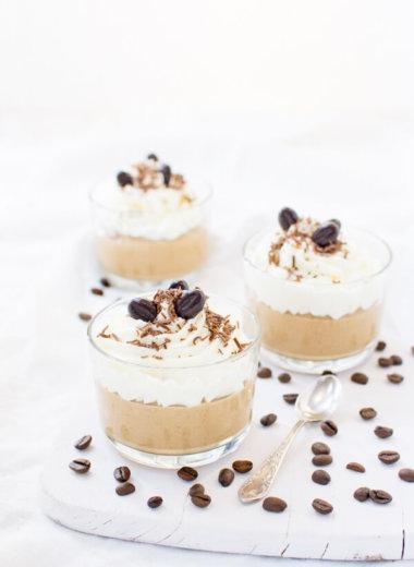 Kaffee Creme Dessert im Glas