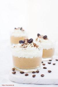 3 Gläser Kaffee Creme Dessert von herzlieb