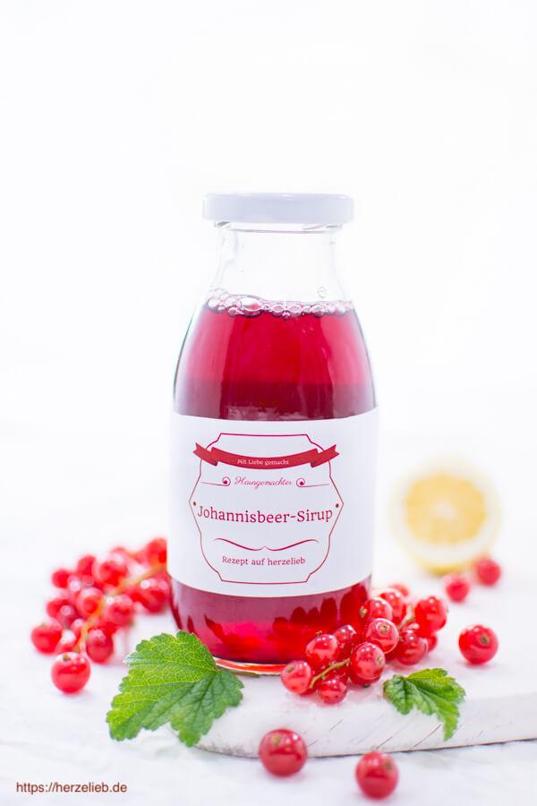 Roter Johannisbeer Sirup Rezept Zum Selbermachen