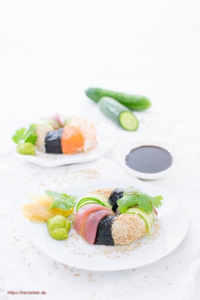 Sushi selber machen in Donut-Form - Rezept von herzelieb