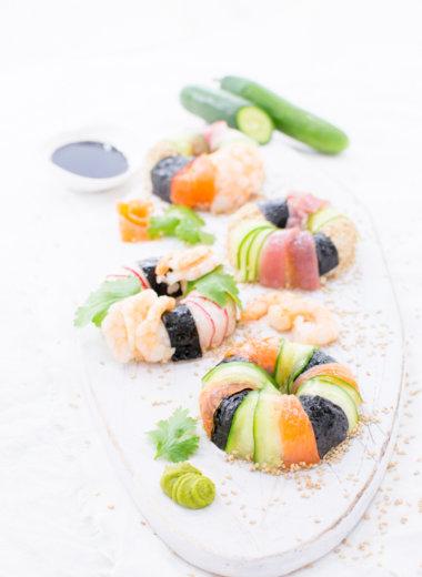 Selbstgemachte Sushi als Donut - Rezept von herzelieb
