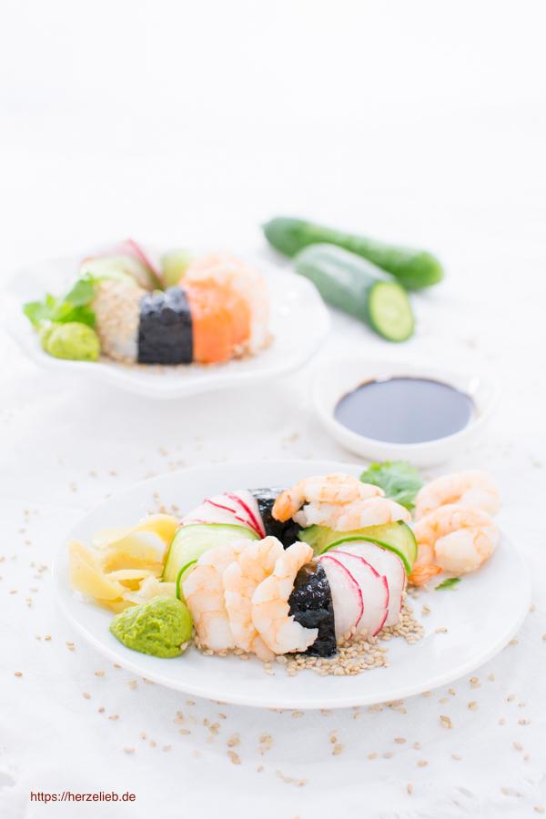 Sushi Rezept - einfach in der Donut-Form