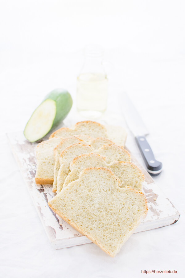 Rezept für ein Zucchinibrot - ganz schnell und einfach