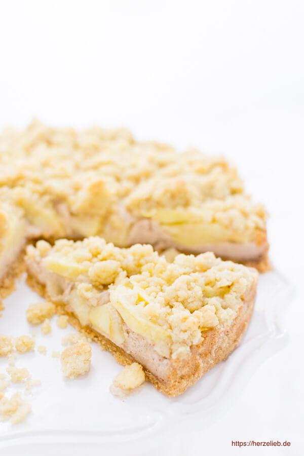 Apfel-Käsekuchen Rezept von herzelieb - Apfelkuchen und Käsekuchen in einem