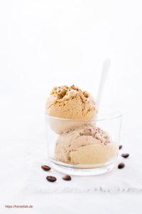 Eis selbermachen! Rezept für eine Kaffee-Eiscreme ohne Ei . Ohne Eismaschine!