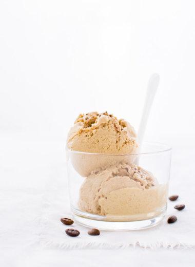 Rezept für eine Kaffee-Eiscreme ohne Ei . Ohne Eismaschine!