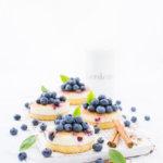 Rezept für Schmandkuchen mit vielen Blaubeeren und Zucker-Zimt