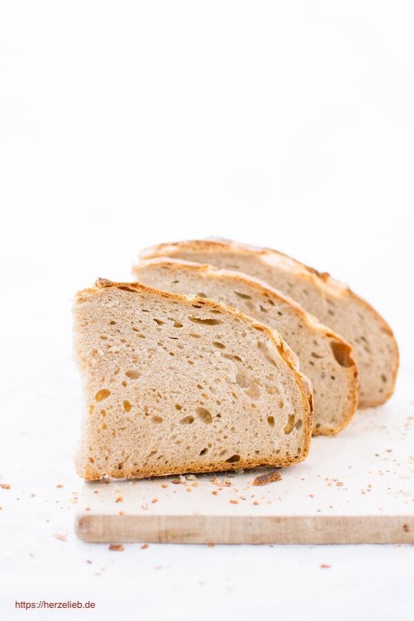 Ganze einfaches Brot Rezept - Dinkel-Roggenbrot
