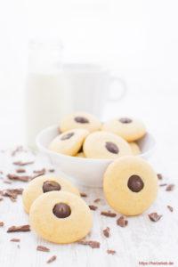 Æggeblommer Kys - dänische Kekse Rezept mit Schokolade von herzelieb