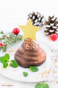 Sarah Bernhardt Kager - Rezept für eiinen Kuchen oder ein Dessert mit ganz viel Schokolade von herzelieb