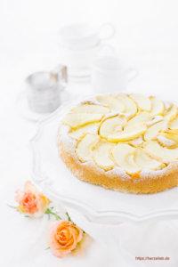 Apfelkuchen Rezept Low Carb mit Bohnen
