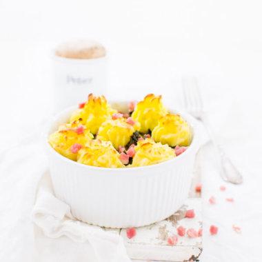 Grünkohlauflauf Rezept mit Karotten und Kartoffeln