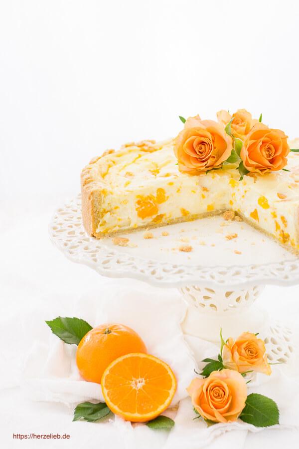 Rezept für einen Mandarinen Schmand Kuchen