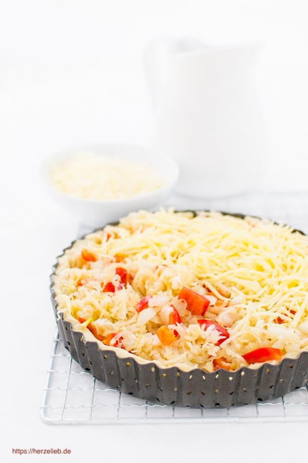 Sauerkrautauflauf - Rezept vegetarisch, schmeckt auch mit Kassler oder Hackfleisch
