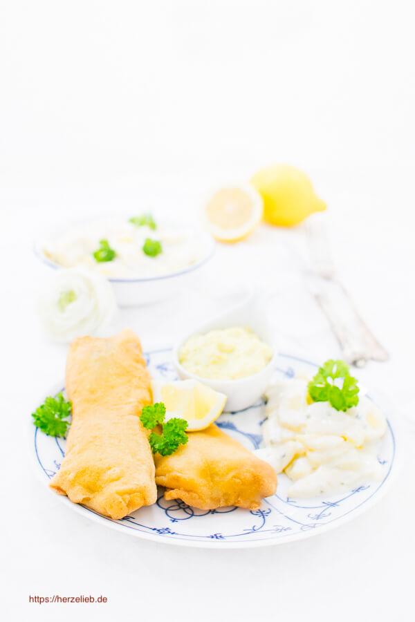Backfisch mit Kartoffelsalat