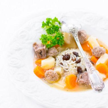 Rezept für Frische Suppe, Rindfleischsuppe aus Nordfriesland