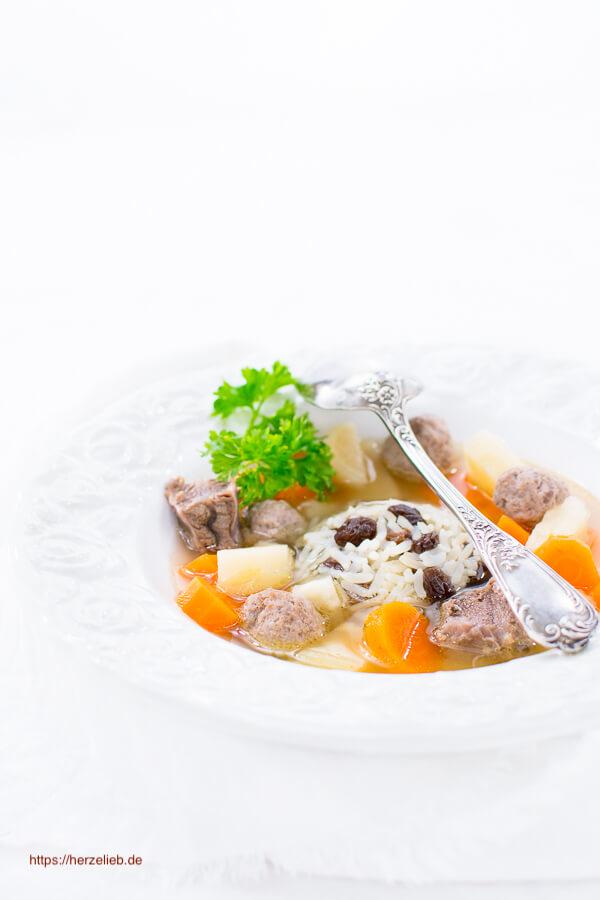 Rezept für Frische Suppe aus Nordfriesland - Rindfleischsuppe