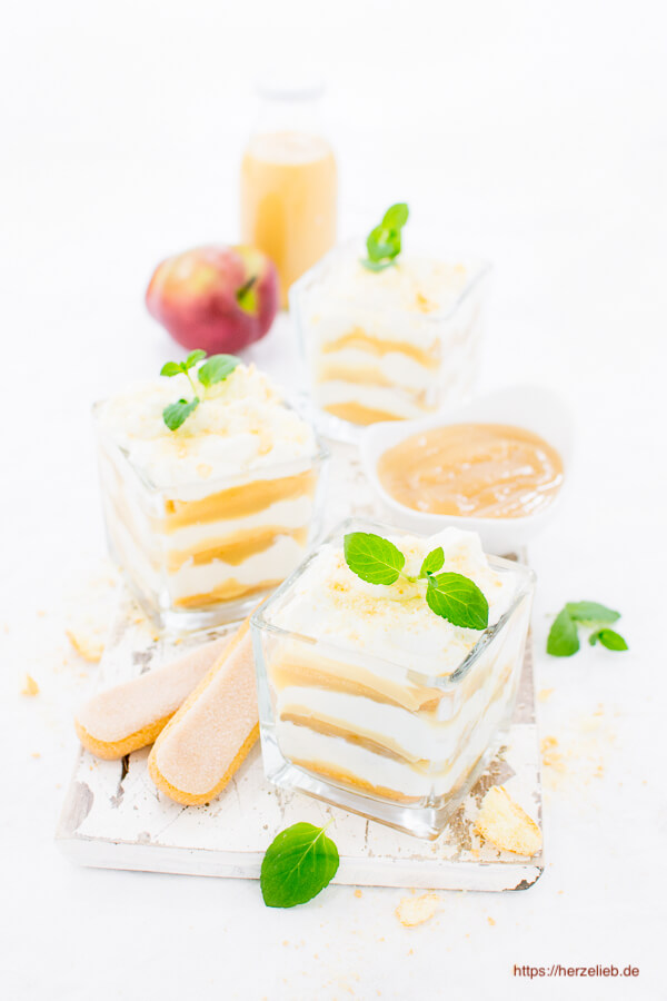 Nachtisch Rezept Apfel-Eierlikör-Tiramisu