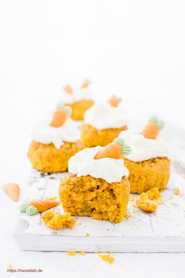 Karottenkuchen, Möhrenkuchen Muffins