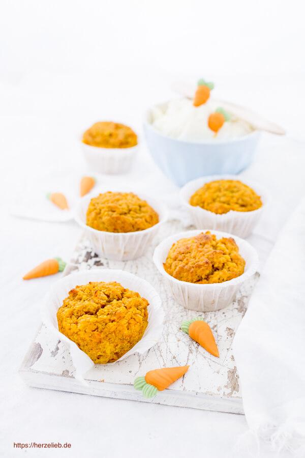 Möhrenkuchen Karottenkuchen Muffin