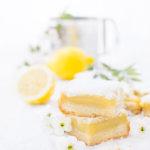 Zitronenkuchen mit Zitronencreme und Mürbeteig