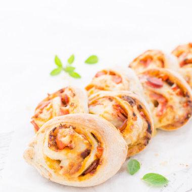 Pizzschnecken Brot leckerer Snack