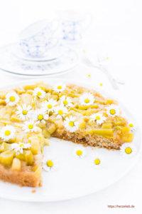 Umgedrehter Rhabarberkuchen Dessert Rezept