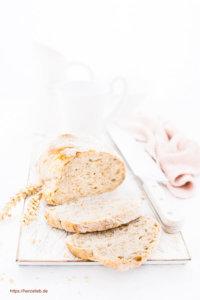 Weizenbrot Rezept Weizenkeime Sonnenblumenkerne Sesam