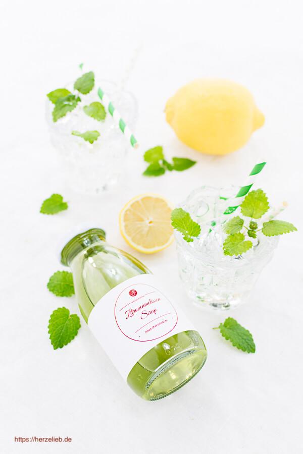 Zitronen-Melisse Sirup - Rezept, toll zum Mixen