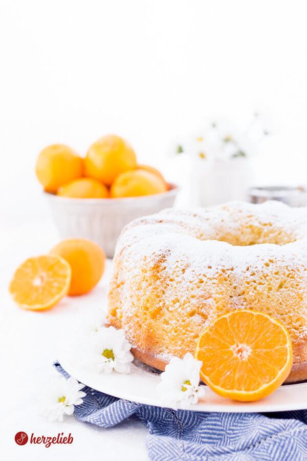 Erfrischender Mandarinen-Schmand-Gugelhupf