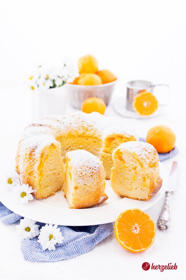 Mandarinen-Schmand-Gugelhupf Rezept