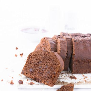 Rote-Grütze-Schokoladenkuchen Kastenkuchen