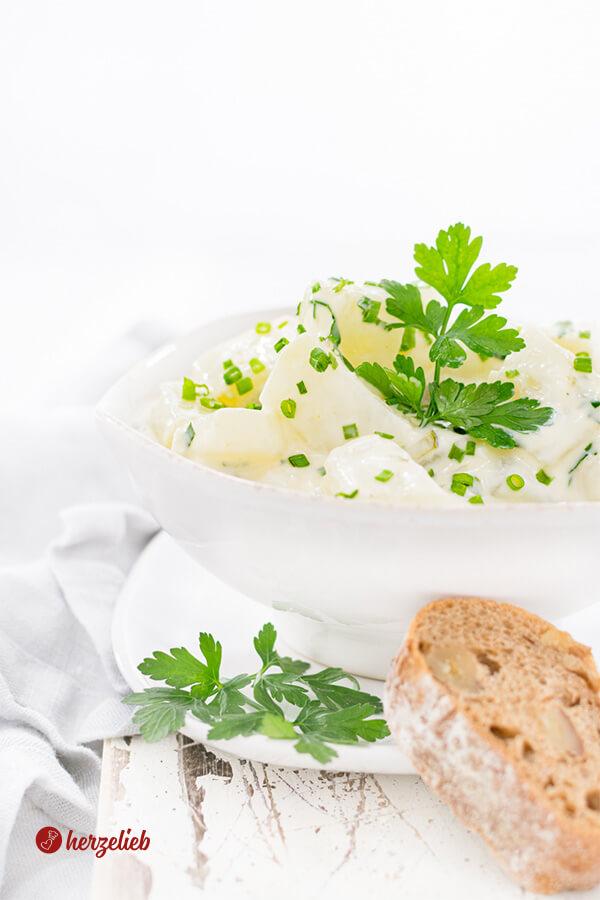 Kohlrabi-Salat Rezept – falscher Kartoffelsalat ganz einfach
