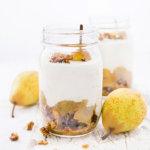 Birnen Dessert mit Kardamom im Weckglas