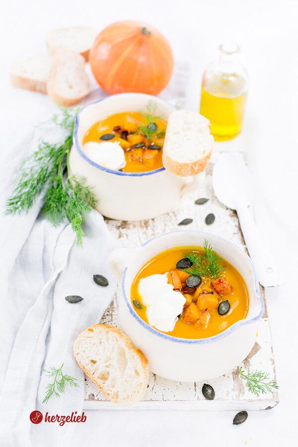 Kürbissuppe mit Meerrettich und Dill – Suppenglück im Herbst