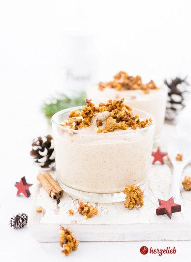 Weihnachts-Nachtisch - Braune Kuchen Dessert