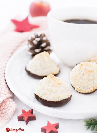 Saftige Kokosmakronen ganz einfach zum Kaffee