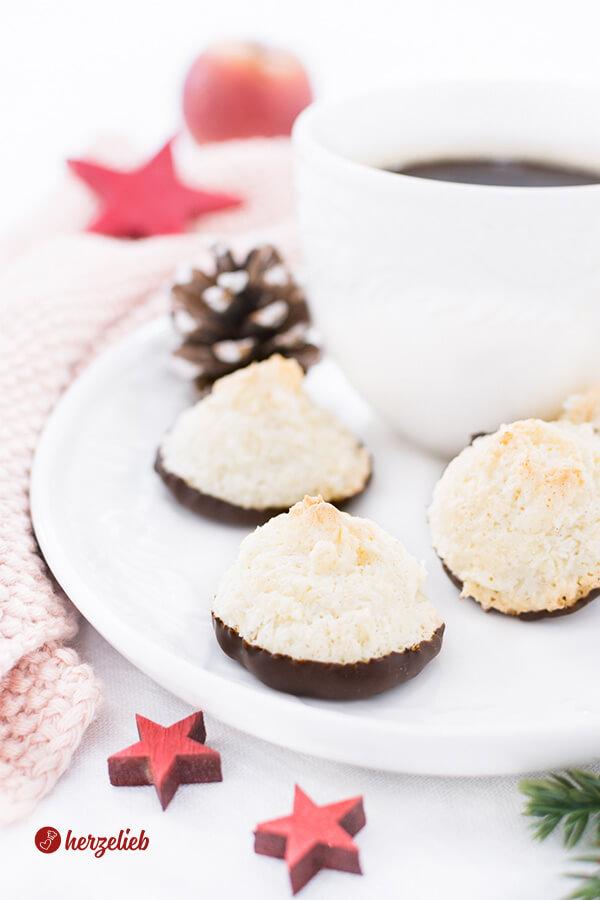 Kokosmakronen Rezept – schön saftig, einfach & für Weihnachten schnell gemacht!