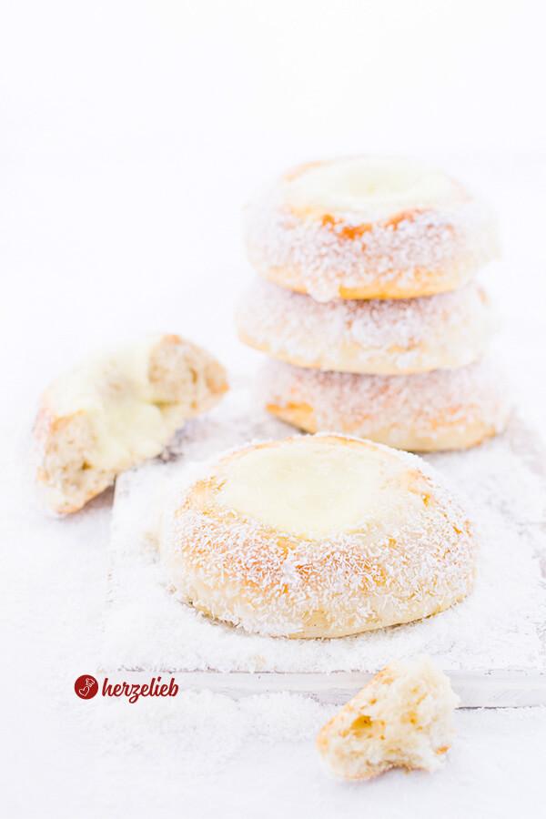 Skoleboller Rezept – norwegische Schulbrötchen, süßes Brot