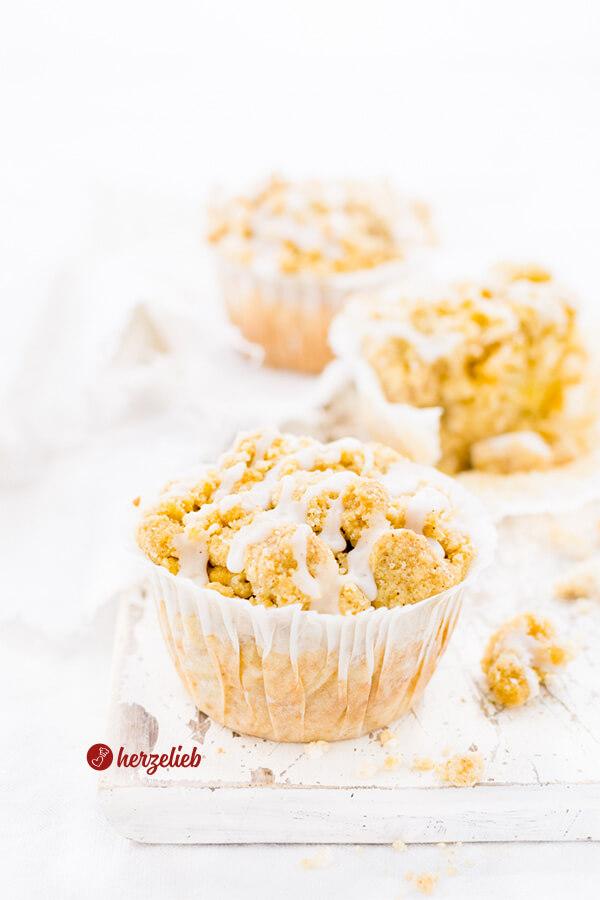 Apfelmuffins Rezept von herzelieb mit Butterstreuseln